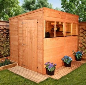 BillyOh Greenkeeper Pent 8 x 6 Shed Doors And Windows