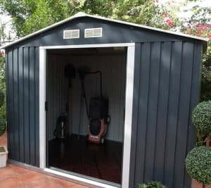 Emerald Anthracite Metal 8 x 6 Shed Cladding Frame And Floor
