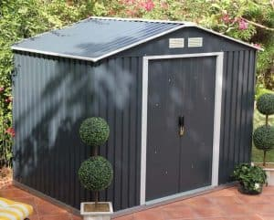 Emerald Anthracite Metal 8 x 6 Shed