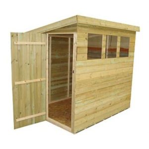 Empire Pent 8x10 Shed With 3 Windows