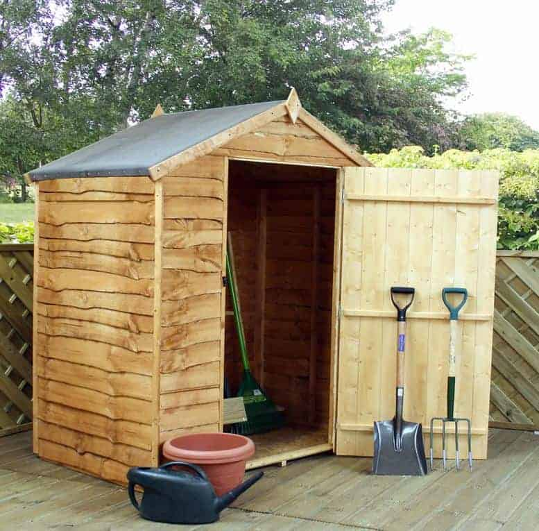 Winchester Windowless Waney Edge Apex Roof 5x3 Shed