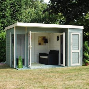 12 x 8 waltons contemporary summerhouse with side shed. Black Bedroom Furniture Sets. Home Design Ideas