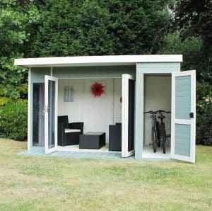 12 x 8 Waltons Contemporary Summerhouse with Side Shed Security And Privacy