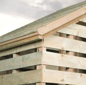 8'8 BSW Log Store Cladding, Frame And Floor