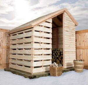 8'8 BSW Log Store Type And Roof Size