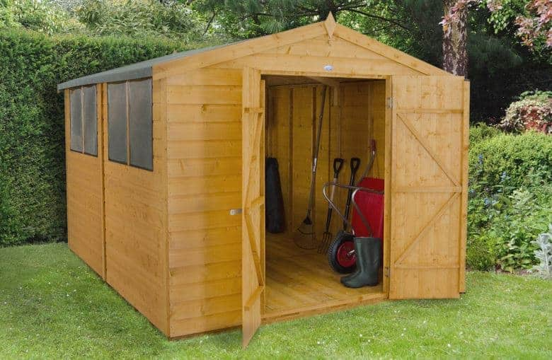 Forest 8x10 Shed Shiplap Workshop