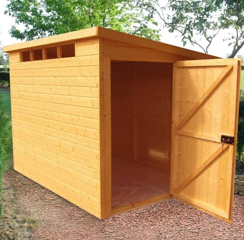 Shire 8x10 shed pent shiplap european softwood shed for 10 x 8 garage door price