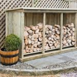 Superior Treated Redwood Triple Log Store