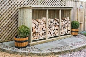Superior Treated Redwood Triple Log Store