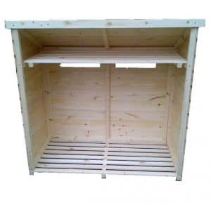 Scandinavian Redwood Pine 4 Foot Log Store Type And Roof Size