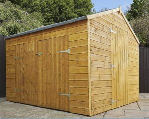 Waltons Tongue and Groove Wooden Multi-Store Garden Shed Doors And Windows