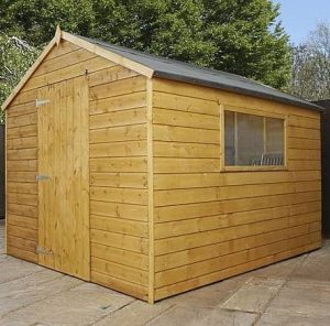 Waltons Tongue and Groove Wooden Multi-Store Garden Shed Type And Roof Size