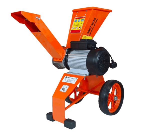 Forest Master Compact Wood Chipper 4HP Direct Drive 2800W Electric Motor