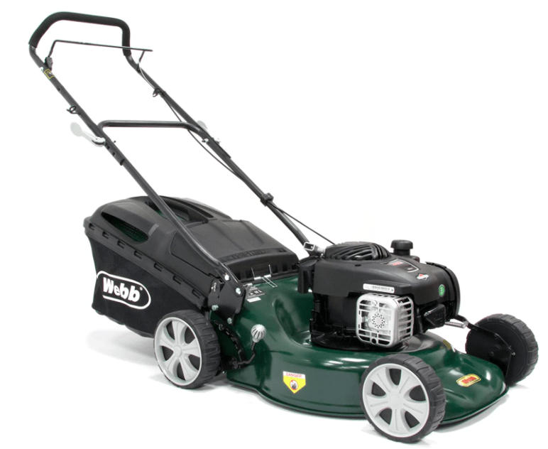 Webb 18in/46cm Push Petrol Four-Wheeled Steel Deck Lawnmower