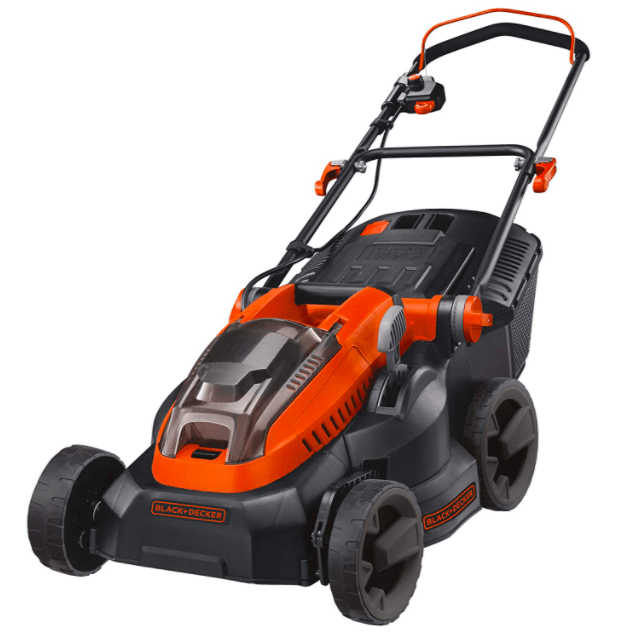 BLACK+DECKER Lithium-Ion Lawn Mower with Two 2 Ah Batteries, 36 V